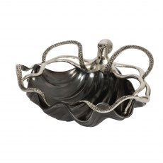 Black Shell Bowl with Octopus