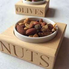 'NUTS' Condiment Holder with Porcelain Dish