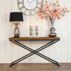 Industrial Knightsbridge Console Table with Black Frame