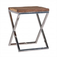 Knightsbridge End Table in Stainless Steel