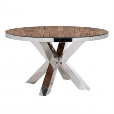 Knightsbridge Round Dining Table with Glass Top