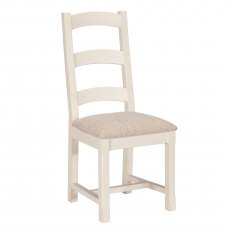 French Country Upholstered Seat Dining Chair