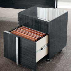 Mustique Pedestal with Two Drawers and Wheels