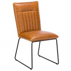 Cooper Dining Chair in Tan Faux Leather