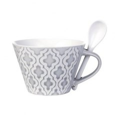 Lene Bjerre Abella Collection Cup with Spoon: Grey