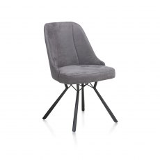 Freddy Dining Chair in Anthracite Fabric