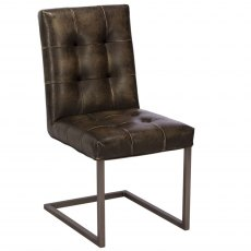 Rupert Dining Chair In Faux Leather