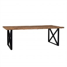 Industrial Knightsbridge Dining Table with Black Frame