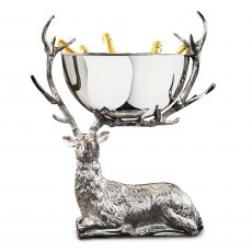 Stag Resting Large Punch Bowl / Wine Cooler