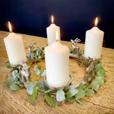 Stag Candle Wreath