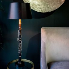 Defranco Clarinet Lamp with Black Shade
