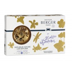 Lolita Lempicka Satin Gold Car Diffuser Set by Maison Berger