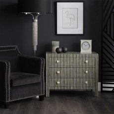 Langham Floor Lamp In Nickel With Black Shade