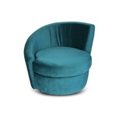 Caesar Chair in Velvet Jade Green