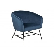 Ramsey Resting Chair In Navy Blue Velvet Fabric