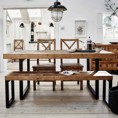 Key West 180cm Fixed Top Dining Table