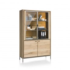 Faneur Glass Display Cabinet with LED
