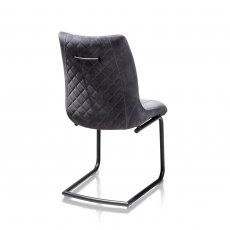 Armino Chair - Black Cantilever Frame - Karese Anthracite Fabric