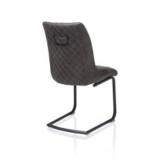 Armino Chair - Off Black Cantilever Frame - Secilla Anthracite Fabric