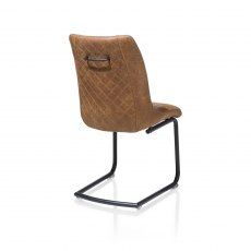 Armino Dining Chair in Cognac Microfibre