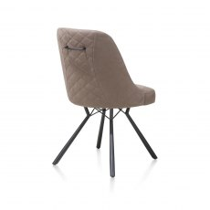 Freddy Dining Chair in Taupe Fabric