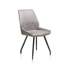 Solo Dining Chair in Light Grey Fabric
