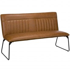 Cooper 150cm Bench In Tan Faux Leather