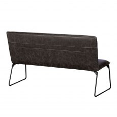 Cooper 150cm Bench In Grey Faux Leather