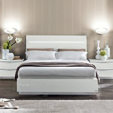 Bianca King Size Bed Frame with LED & Orthopaedic Slats