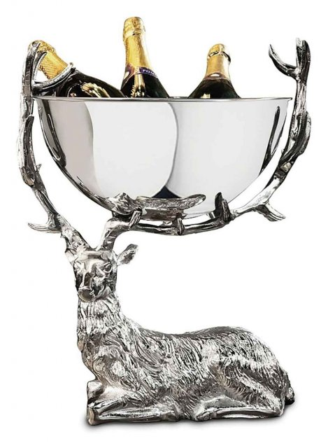 Stag Resting Small Punch Bowl