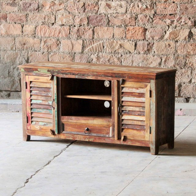 Thakat Upcycled 1 Drawer 2 Door TV Unit