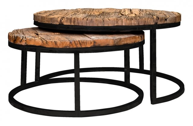 Industrial Knightsbridge Coffee Table Set with Black Frame