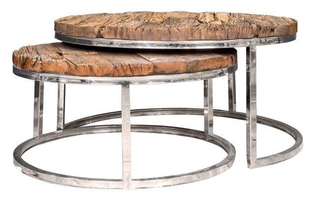 Knightsbridge Coffee Table Set in Stainless Steel