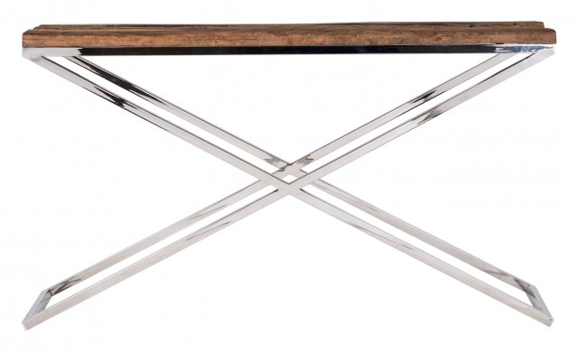 Knightsbridge Console Table in Stainless Steel