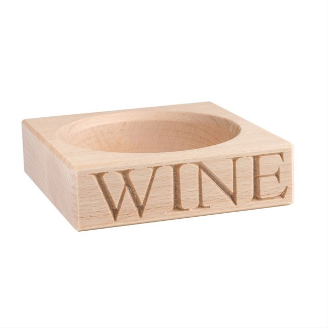 'WINE' Bottle Stand in Beech Wood