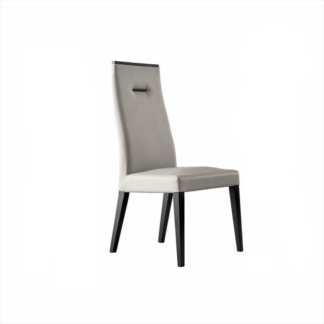 Novello Dining Chair in Silver Grey Eco-Leather