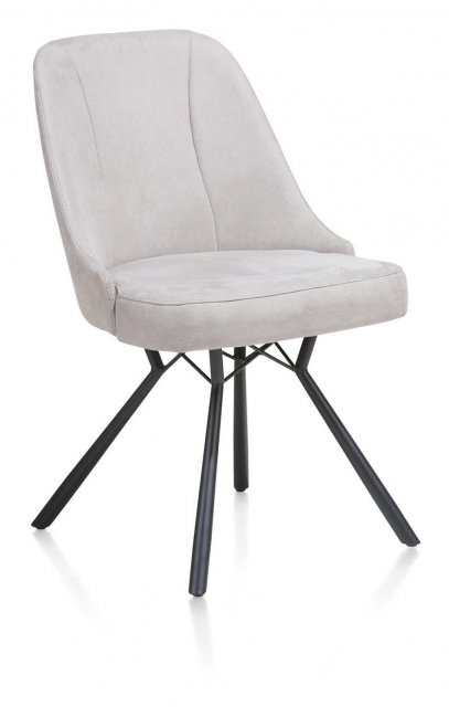 Freddy Dining Chair in Light Grey Fabric