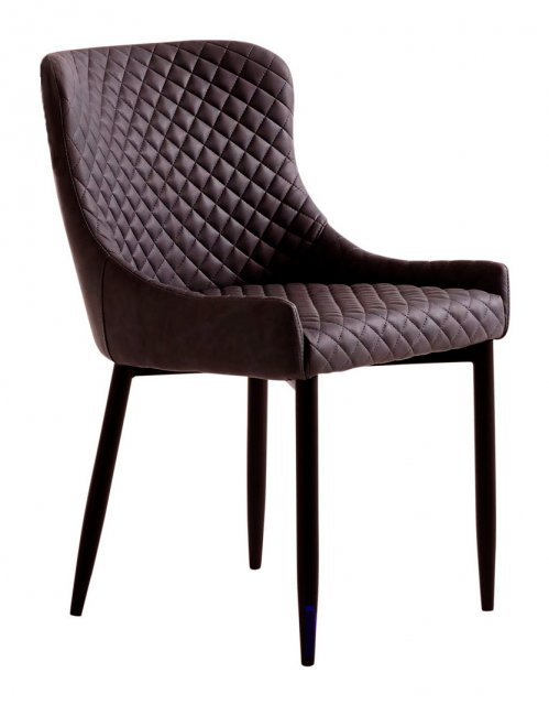 Ontario Dining Chair in Brown PU