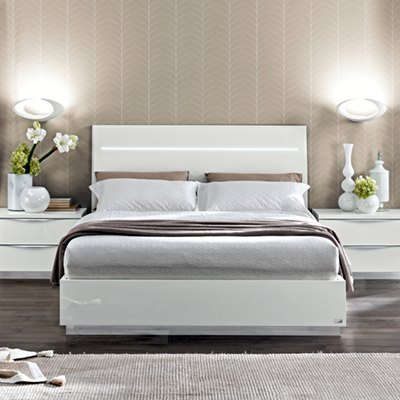 Bianca Continental 160cm Bed Frame with LED & Orthopaedic Slats